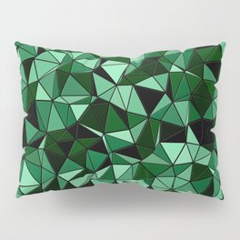 Emerald Lo Poly Pillow Sham