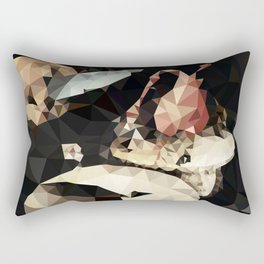 Hieronymus Bosch - Polygonal Garden of Earthly Delights Rectangular Pillow