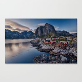 Iconic view of Lofoten Canvas Print