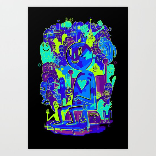 Knee-Jerk Art Print