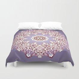 Flower Bud Mandala Duvet Cover