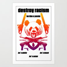 Be Like a Panda Art Print