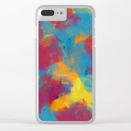 A Tropical Paradise - Abstract Art Clear iPhone Case