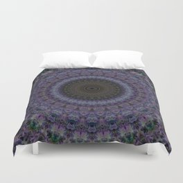 Mandala in blue and violet Duvet Cover
