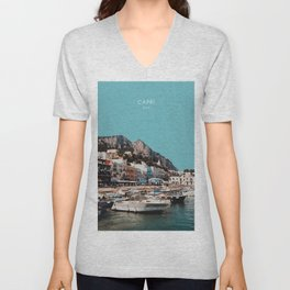 Capri, Italy Travel Artwork Unisex V-Neck