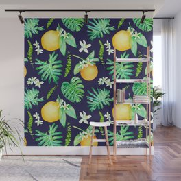 Citrus Tropics - Midnight Wall Mural