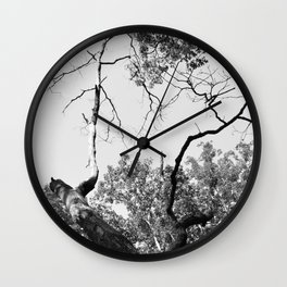 Branches like Lightning Wall Clock