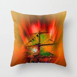 Sailing romance Throw Pillow