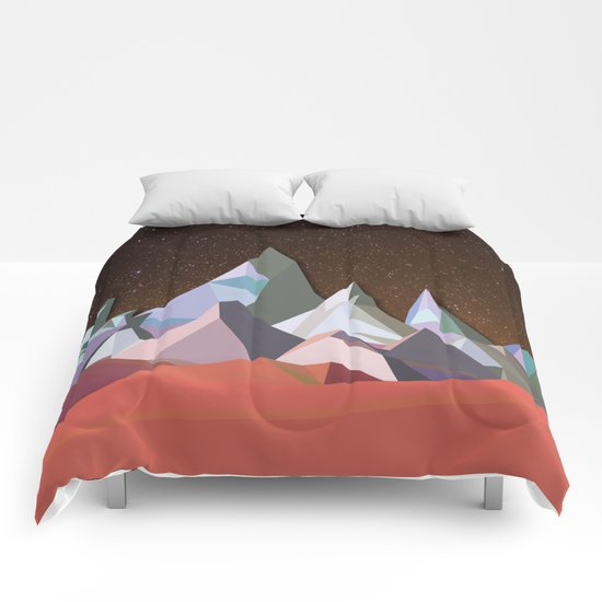 Night Mountains No. 30 Comforters