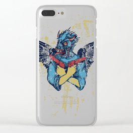 Fallen Hero Eagle Clear iPhone Case