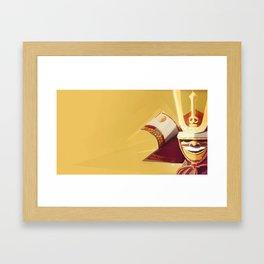 Kabuto - Orange Framed Art Print