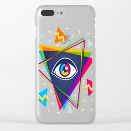 Pyramid with eye Clear iPhone Case