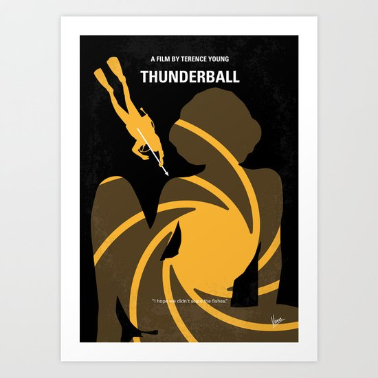No277-007 My Thunderball minimal movie poster Art Print