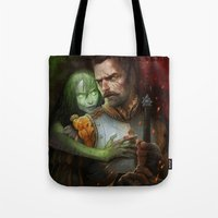 warhammer Tote Bags featuring Condemned By Fire by Paul Guzenko