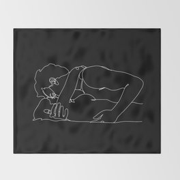 Straight Couple (black) Throw Blanket
