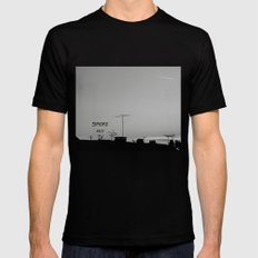 Smoke and Tv MEDIUM Mens Fitted Tee Black