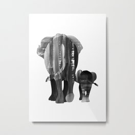A walk together (black and white) Metal Print