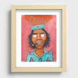 Che Guevara and hearts 4 Recessed Framed Print