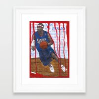 nba Framed Art Prints featuring NBA PLAYERS - Allen Iverson by Ibbanez