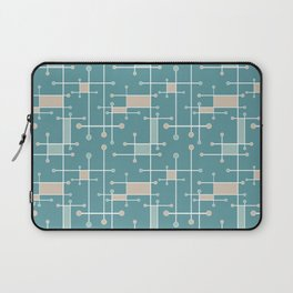 Intersecting Lines in Teal, Tan and Sea Foam Laptop Sleeve