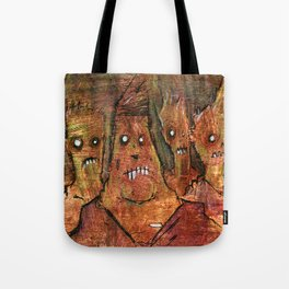 Zombies in a Red Dawn Apocalypse Tote Bag