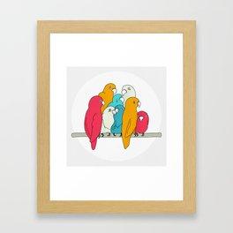 Let's hang out Framed Art Print