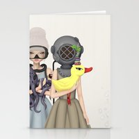 diver Stationery Cards featuring diver by Anne  Martwijit