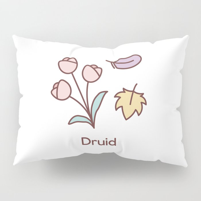 Cute Dungeons and Dragons Druid class Pillow Sham