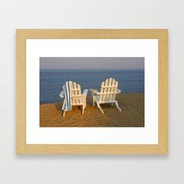 Beach Break Framed Art Print