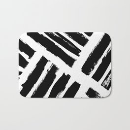 Abstract Monochrome 02 Bath Mat