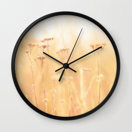 Golden Autumn Wall Clock