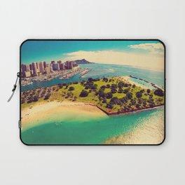 Ala Moana Beach Park, Magic Island, and Diamond Head  Laptop Sleeve