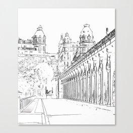 Pont de Bir-Hakeim - Paris, France Canvas Print