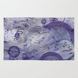 Lavender Abstract Rug