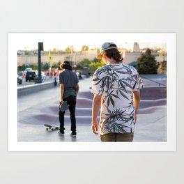 Broken Skateboard Art Print