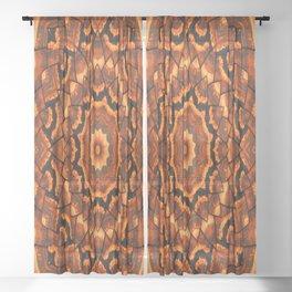 Africa sunset 3D kaleidoscope Sheer Curtain