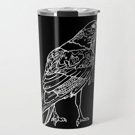 Raven White Travel Mug