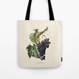 Black Grape Antique Botanical Illustration Tote Bag
