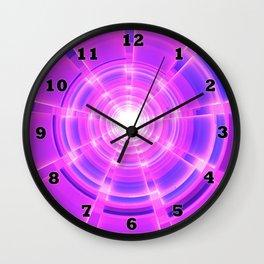 Purple Scope Wall Clock