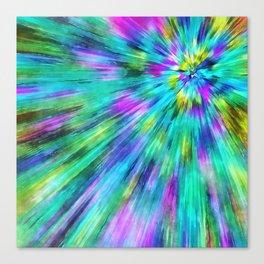 Tie Dye Starburst Canvas Print