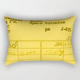 Library Card 797 Yellow Rectangular Pillow