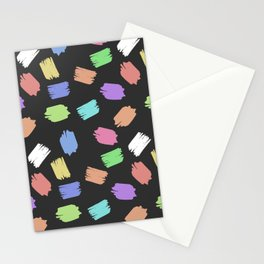 COLORFUL BRUSH  Stationery Cards