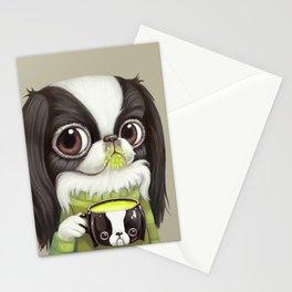 Japanese Chin Sips Matcha Latte Stationery Cards