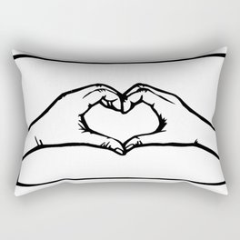 Heart Hands Rectangular Pillow