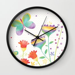 Home in the Summertime Wall Clock