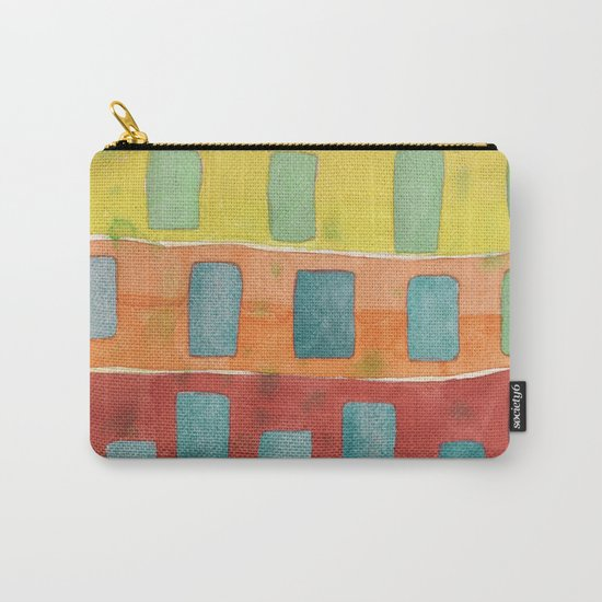 Placed in a Red Orange Yellow Field Carry-All Pouch