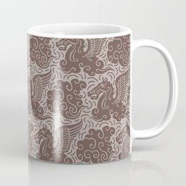 Pegasus Pattern Beige Brown Neutrals Coffee Mug