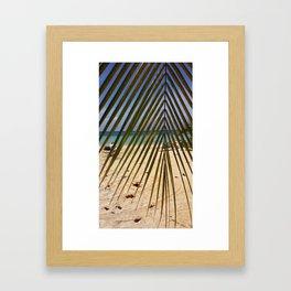 Peeking through the Palms Framed Art Print