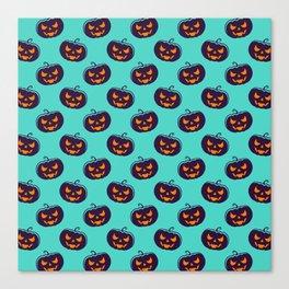 Scarry Halloween Pattern Canvas Print