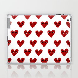 Heart love valentines day gifts hearts with faces cute valentine Laptop & iPad Skin